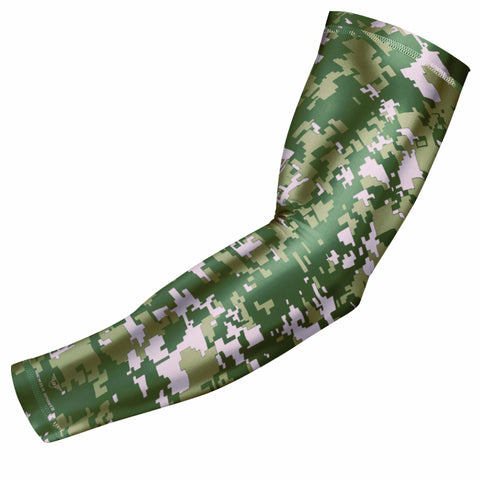 Green On Green Digital Camo Arm Sleeve