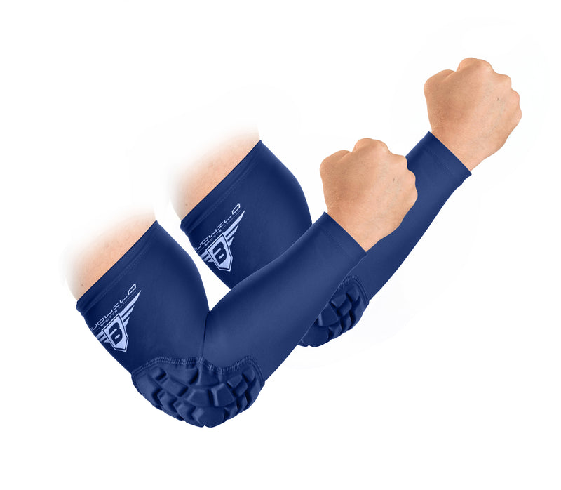 Padded Arm Sleeves - Navy Blue
