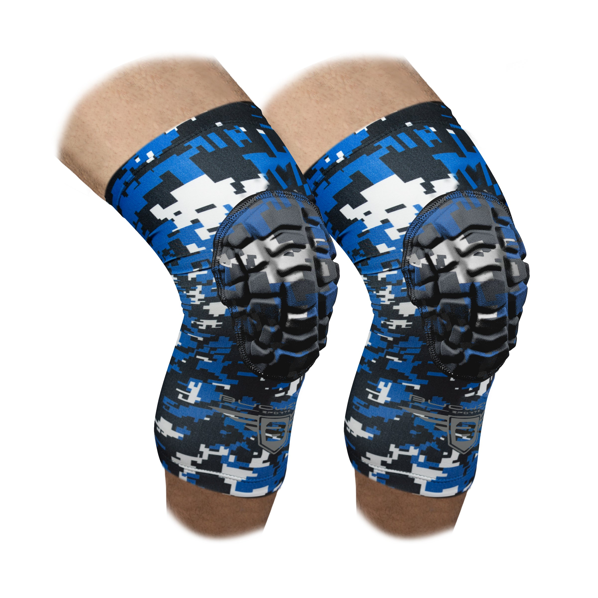 Compression Knee Pads - Royal Blue Camo