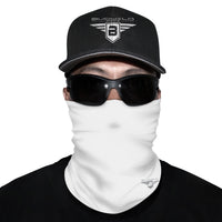White Neck Gaiter Face Mask