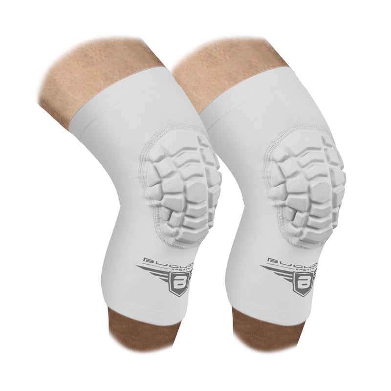 Compression Knee Pads - White