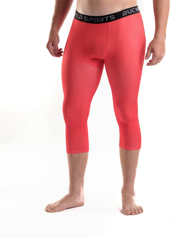 3/4 Compression Pants/Tights - Red