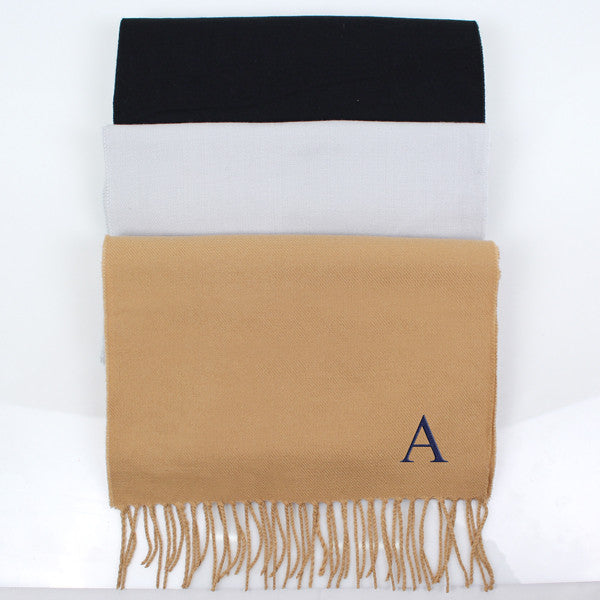 Black Personalized Scarf