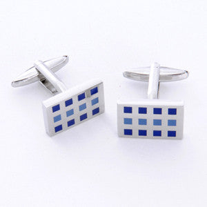 Dashing Cuff Links with Personalized Case - 12 Squares