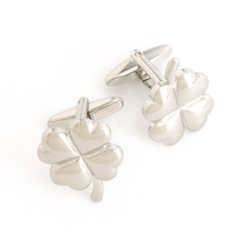 Dashing Cuff Links with Personalized Case - 4 Leaf Cover