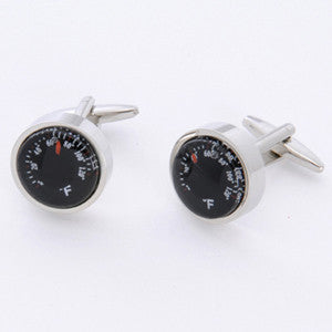 Dashing Cuff Links with Personalized Case - Thermometer