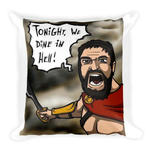 Dining in Hell Throw Pillow