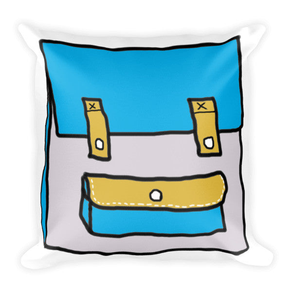 2D School Bag Cartoon Pillow
