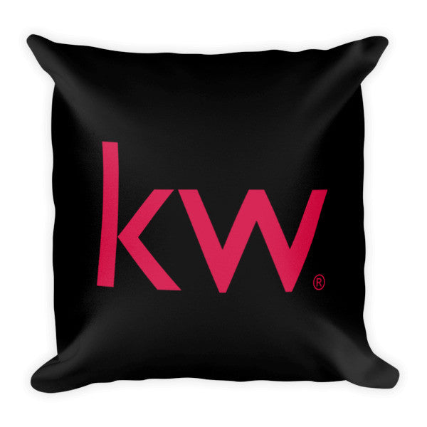 KW Pillow Black (2 sided print)