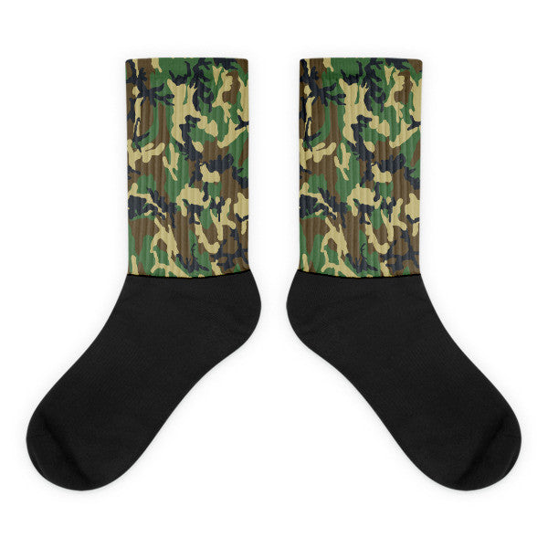 Camouflage Black Brown Green Black socks