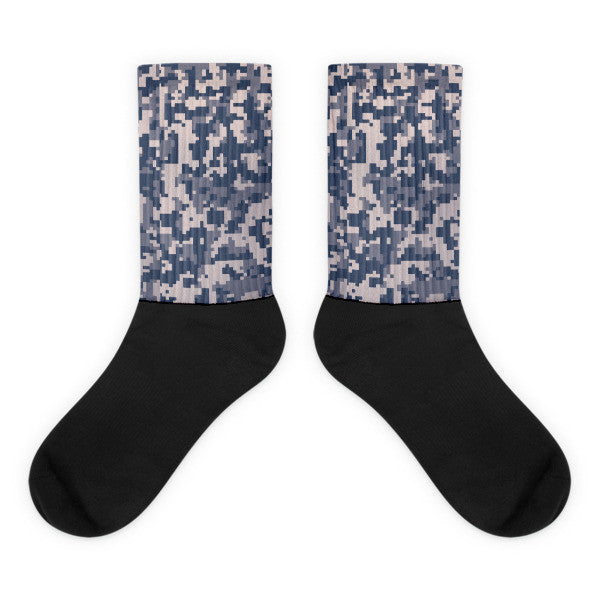 Camouflage Winter Black socks