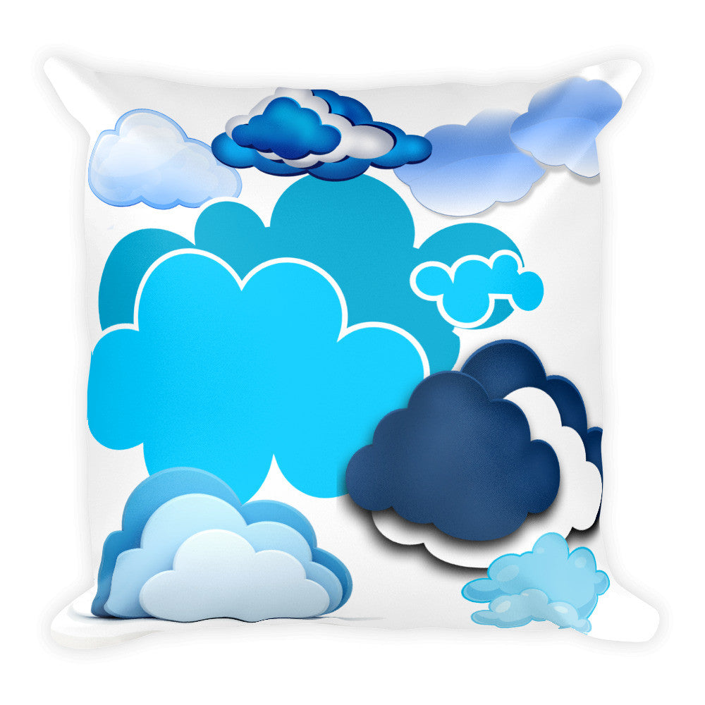 In the Clouds Pillow 2 Sided Print