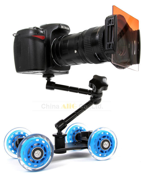 Mini desktop camera rail car table dolly * FREE SHIPPING