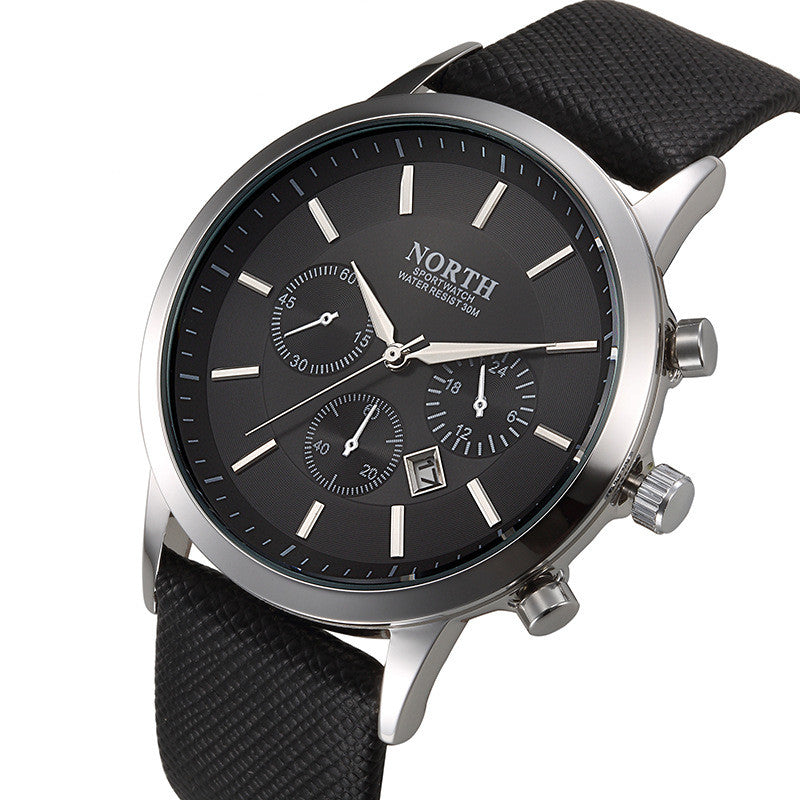 Mens Watches Casual Wristwatch Leather Strap   * FREE SHIPPING