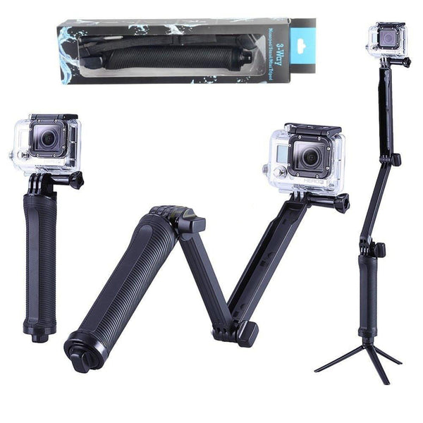 Collapsible 3 Way Monopod Mount Camera Grip * FREE SHIPPING
