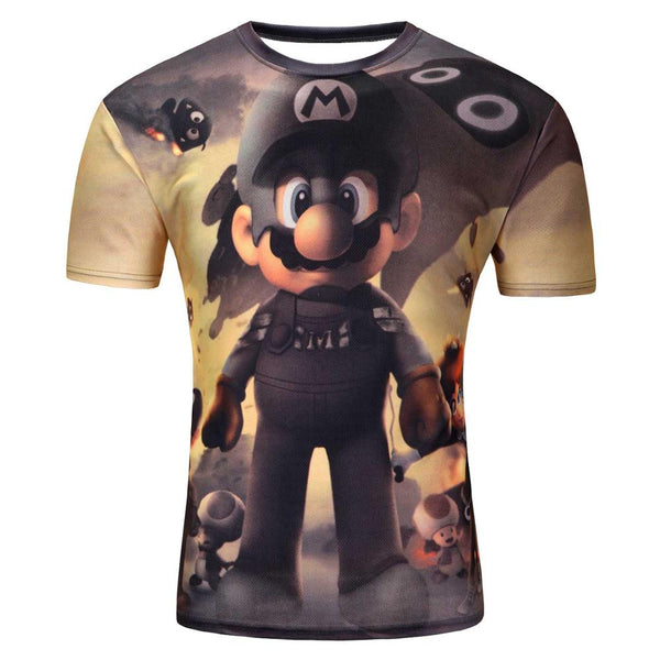 Men's Short Sleeve Polyester 3D Prints * FREE SHIPPING