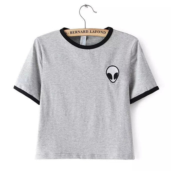 Alien Crop Tops Women Printed Tee * FREE SHIPPING