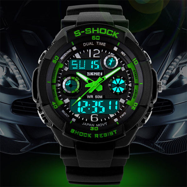 Men Quartz Digital Watch S Shock LED Military Wristwatches * FREE SHIPPING