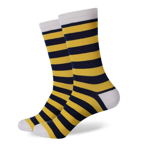 Colorful Stripes / combed cotton socks   * FREE SHIPPING