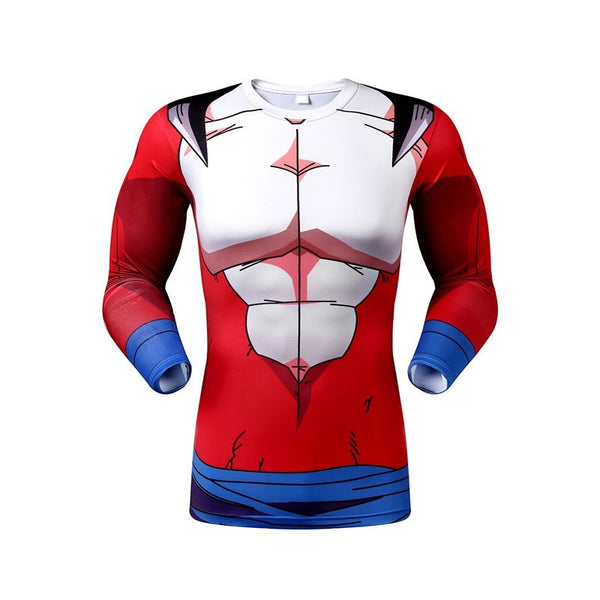 Men's 3D Anime tight compression long sleeve shirt / digital printing * FREE SHIPPING