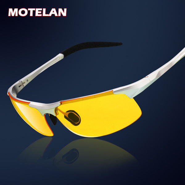 Men's aluminum-magnesium Night vision goggles anti-glare polarizer sunglasses Polarized Driving Glasses
