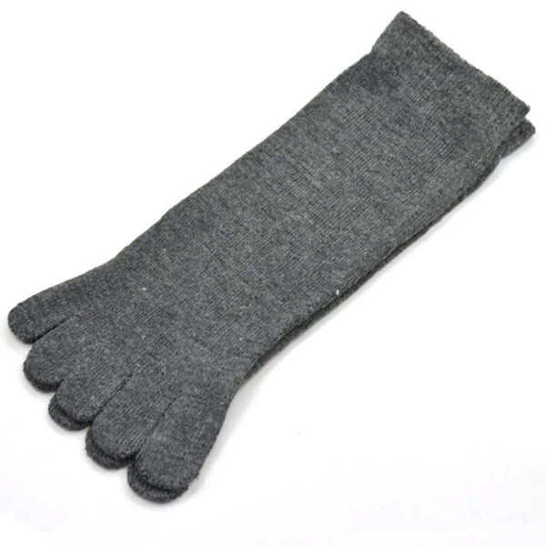 Breathable Men's Cotton Toe Socks  * FREE SHIPPING