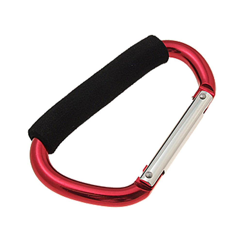 Large Clip Hook Aluminum Carabiner Red with Soft Grip  * FREE SHIPPING