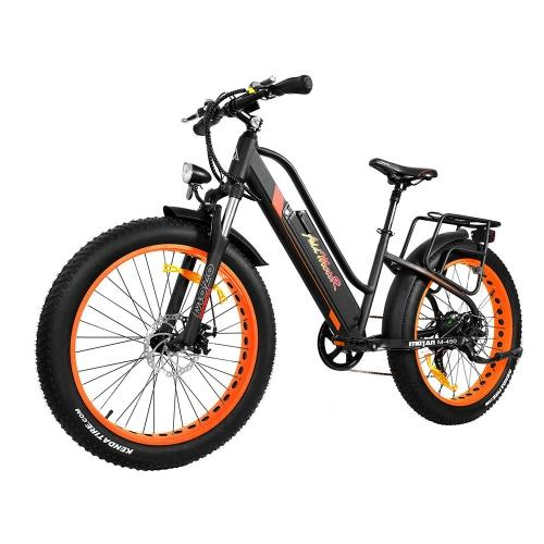 Addmotor MOTAN Electric Bike Bicycles 500W Fat Tire Fork Full Suspension Women Adult E-Bike M-450