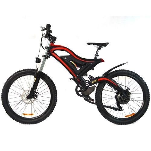 Addmotor HITHOT Mountain Electric Bicycle Bike 500W 26 Inch High Fork Full Suspension Adult Moped E-bike H5