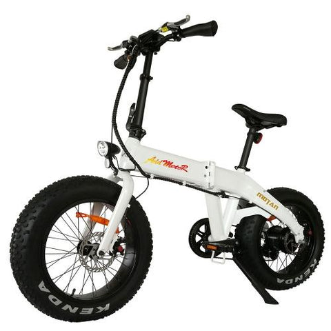 Image of Addmotor MOTAN M-160 Electric Bicycle Bike 750W Power Folding Strong Frame 20 Inch Fat Tire E-bike - With Free Gift
