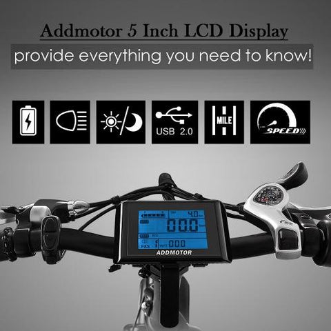 Image of AddMotor MOTAN M-140 Folding 48 Volt Fat Tire Electric Bike