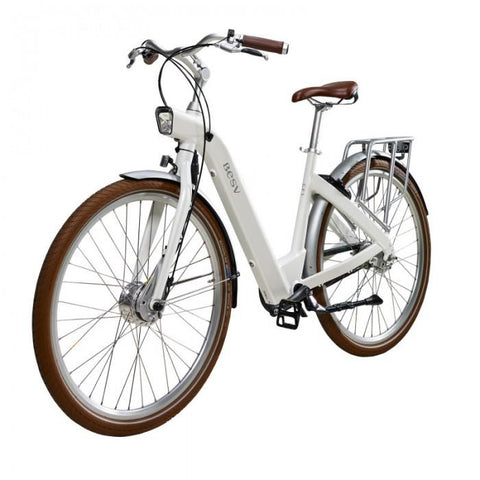 Image of BESV | CF1 700c White Commuter Electric Bicycle