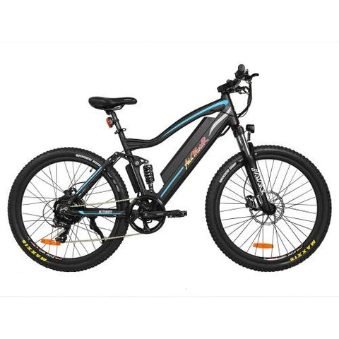 Image of Addmotor HITHOT Electric Mountain Bike 500W Motor 27.5 Inch Full Suspension H1 Platinum Ebikes- With Free Gift