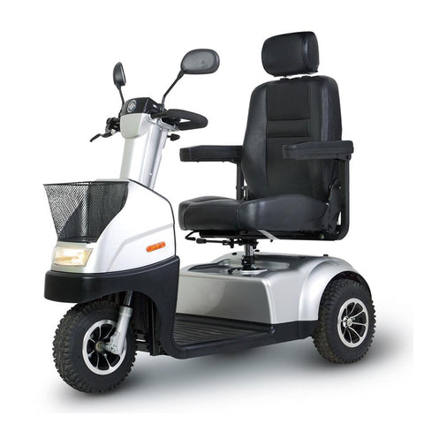 Image of Afiscooter C3 front left side angle metallic silver