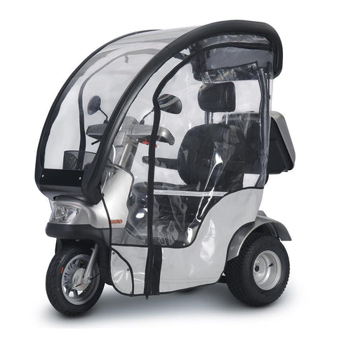 Image of breeze s3_front left side with canopy and rain guard