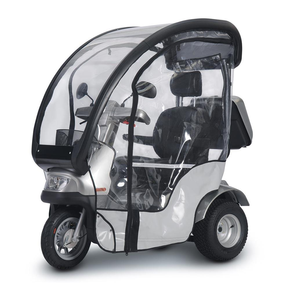 breeze s4_front left side with canopy and rain guard