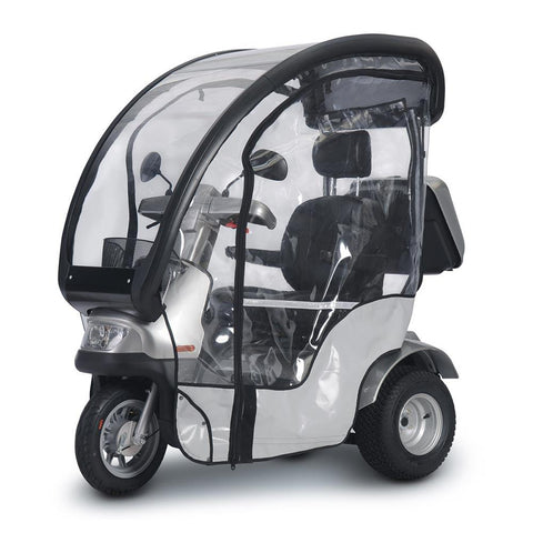 Image of breeze s4_front left side with canopy and rain guard