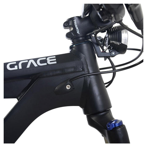 Image of Grace MX II Trail grace logo and gooseneck side view