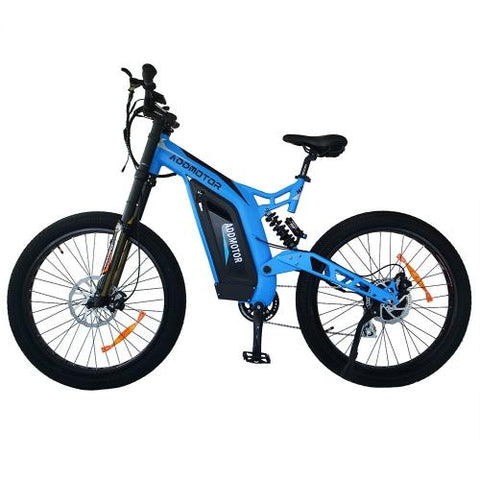 Addmotor HITHOT H7 750W Powerful Electric Mountain Bicycle Full Suspension Electric Bike
