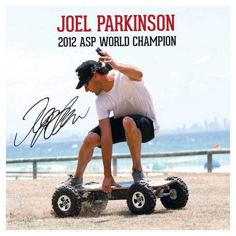 Image of fiik big daddy 13ah world champion joel parkinson on board