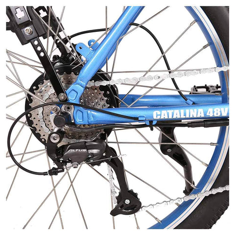 Image of catalina beach 48v feature rear sprocket and derailleur