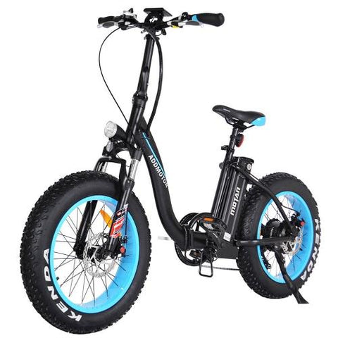 Image of Addmotor MOTAN Electric Bicycle Bike Step Thru 500W Folding 20 Inch Fat Tire Women Colorful E-bike M-140