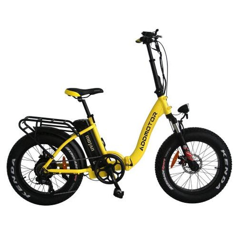 Addmotor MOTAN Electric Bicycle Bike Step Thru 500W Folding 20 Inch Fat Tire Women Colorful E-bike M-140