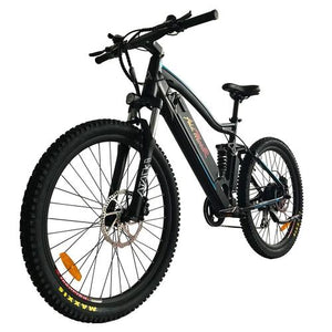 Addmotor HITHOT Electric Mountain Bike 500W Motor 27.5 Inch Full Suspension H1 Platinum Ebikes- With Free Gift