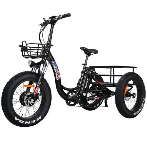 Addmotor MOTAN M-330 Electric Trike Tricycle 500W 3 Wheel Electric Bicycle Cargo 20 Inch Fat E-Trike