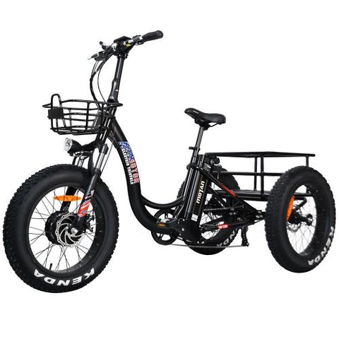 Image of Addmotor MOTAN M-330 Electric Trike Tricycle 500W 3 Wheel Electric Bicycle Cargo 20 Inch Fat E-Trike