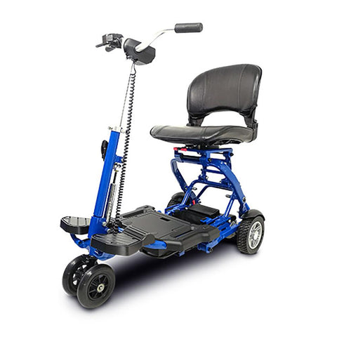 Image of EV Rider MiniRider blue front left side angle view