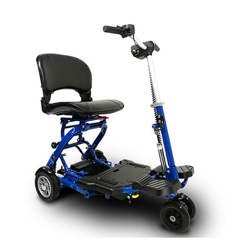 Image of EV Rider MiniRider blue front right side angle view