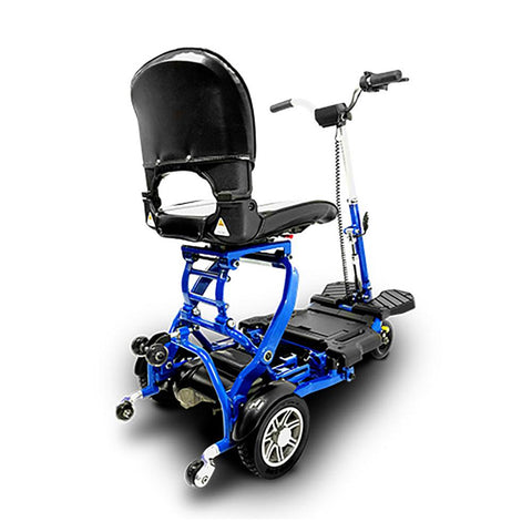 Image of EV Rider MiniRider blue rear right side angle view