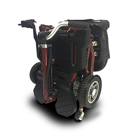 EV Rider MiniRider folded rear left side angle view